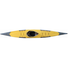 Pakboats Quest 150 Kayak incl. Deck, black/yellow